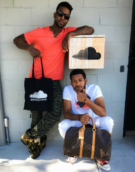 Two of Atlanta's talented producers and engineers, @damnbrandont and @jrichent, stopped by the Bay for a visit.