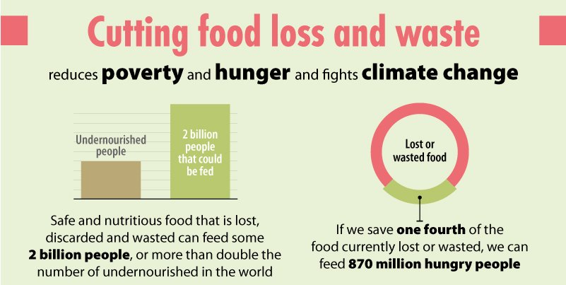 By cutting back on #foodwaste, we also address other huge issues: poverty, hunger & climate change! @FAOstatistics https://t.co/eVtrsfVXdR
