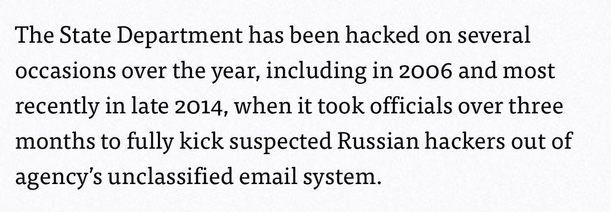 "EDIT:""It took Russian hackers over three months to successfully conceal their presence on the agency's email system"" https://t.co/a4BvRu4QzE"