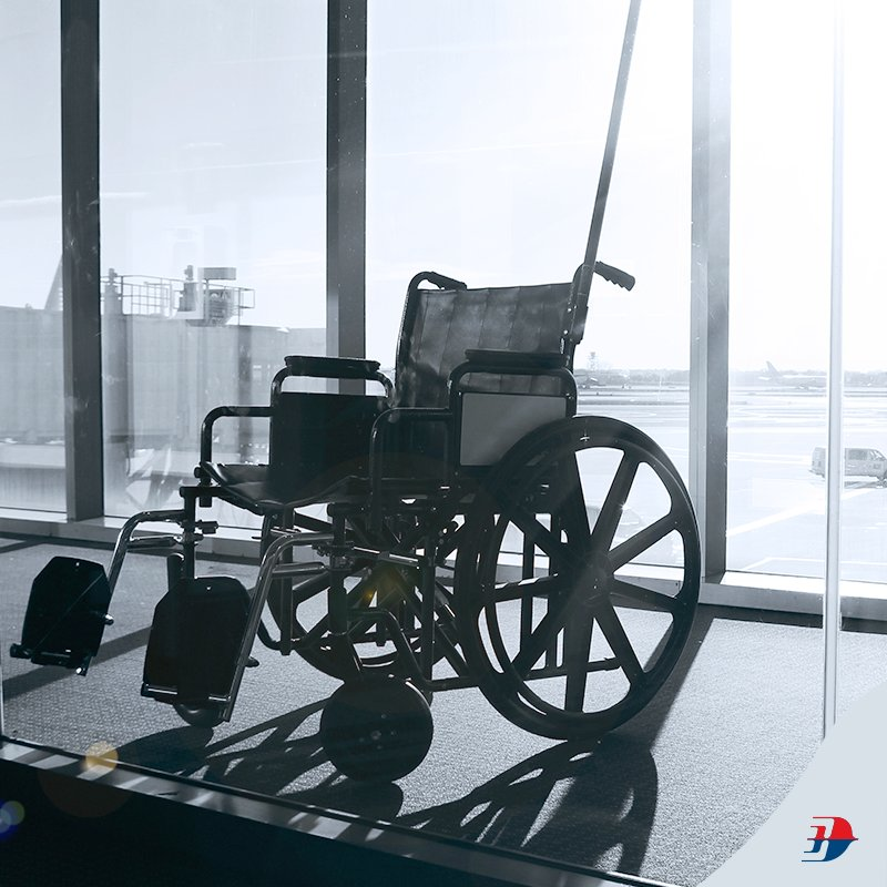 Request for wheelchairs and attendant services 24 hours before your flight. -