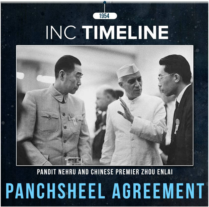 The 8 Year Panchsheel Treaty Was Signed Between India And China On