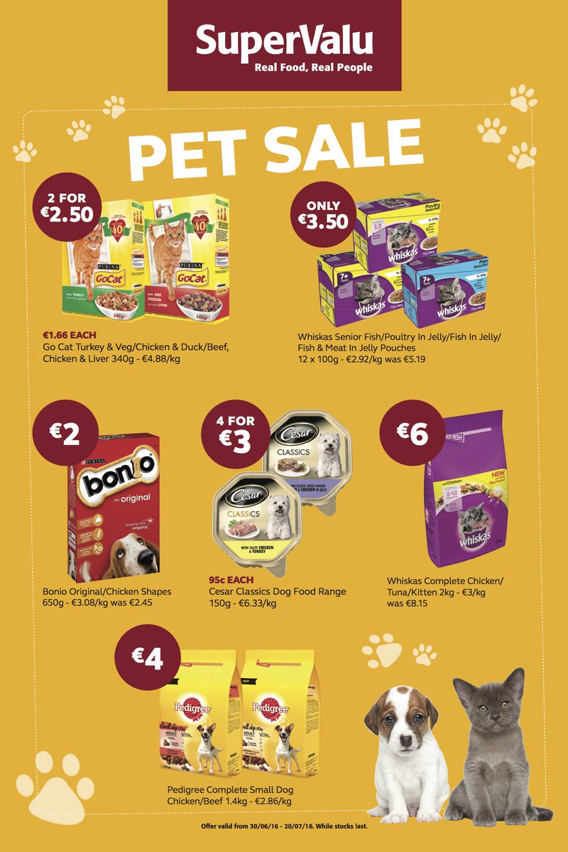 Real Food - Real People - REAL PETS! Check out our Pet Sale in store.... https://t.co/tfVcazhAOy