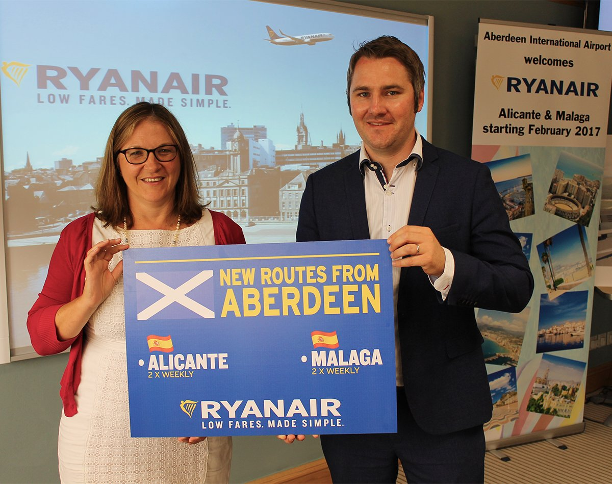 Great news! @Ryanair confirm year-round scheduled Alicante & Malaga flights from Feb 2017.