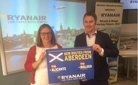 Starting in Feb, we'll have 2 new routes from @ABZ_Airport to Alicante & Malaga Read more: