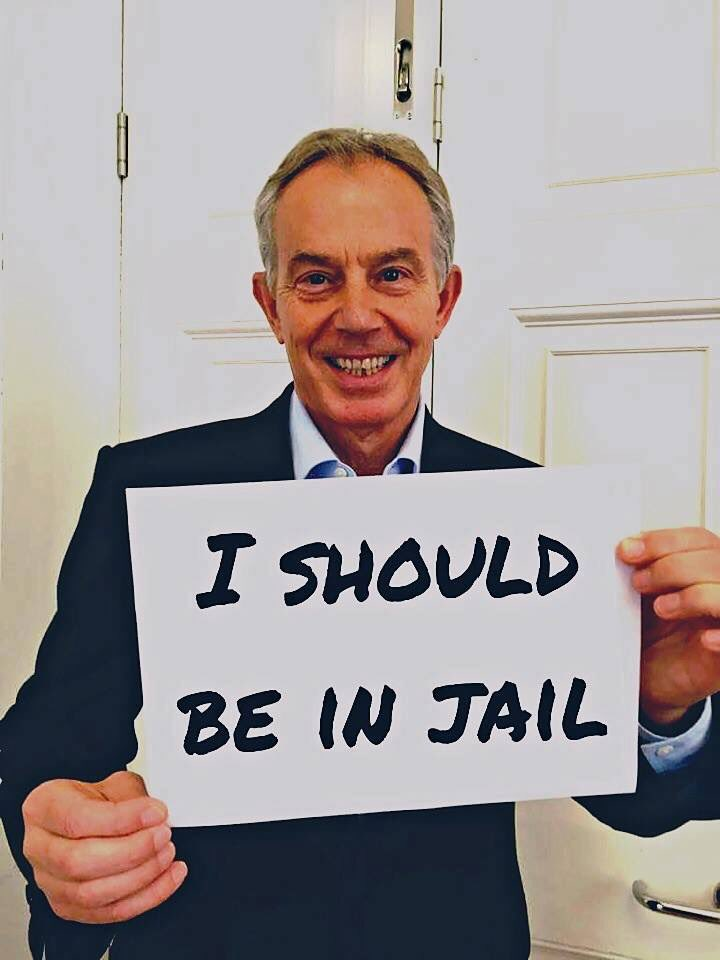 """""""Don't keep saying I'm a liar"""" says @tonyblairoffice. But you DID LIE! It wasnt WMD, it was regime change #Chilcot https://t.co/4Yc1MG733W"""