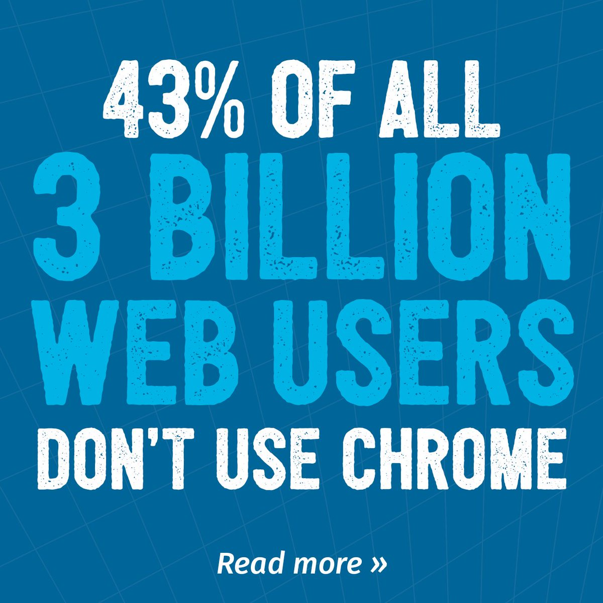 """It works on my machine"" isn't good enough. 43% of your visitors aren't using Chrome. https://t.co/ckVA0HPbAa https://t.co/ArL24MzaYI"