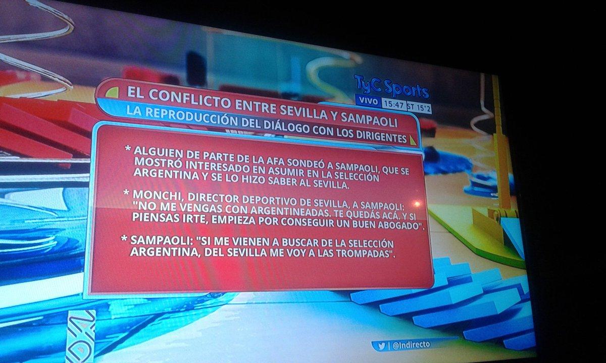 ATENCIÓN. Jorge Sampaoli quiere venir a Argentina. El diálogo con Sevilla vía @Indirecto https://t.co/Y10NX3jEj4