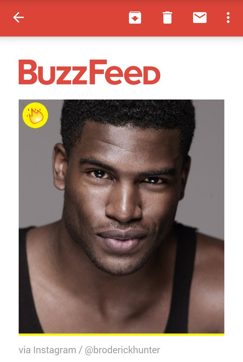 """Someone at BuzzFeed decided to do the Lord's work today & gave us Broderick Hunter in the """"Dude A Day"""" newsletter"""
