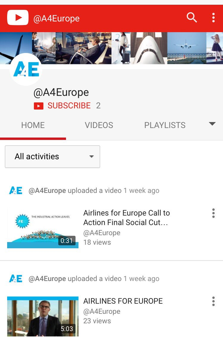 RT @A4Europe: Check out our youtube channel