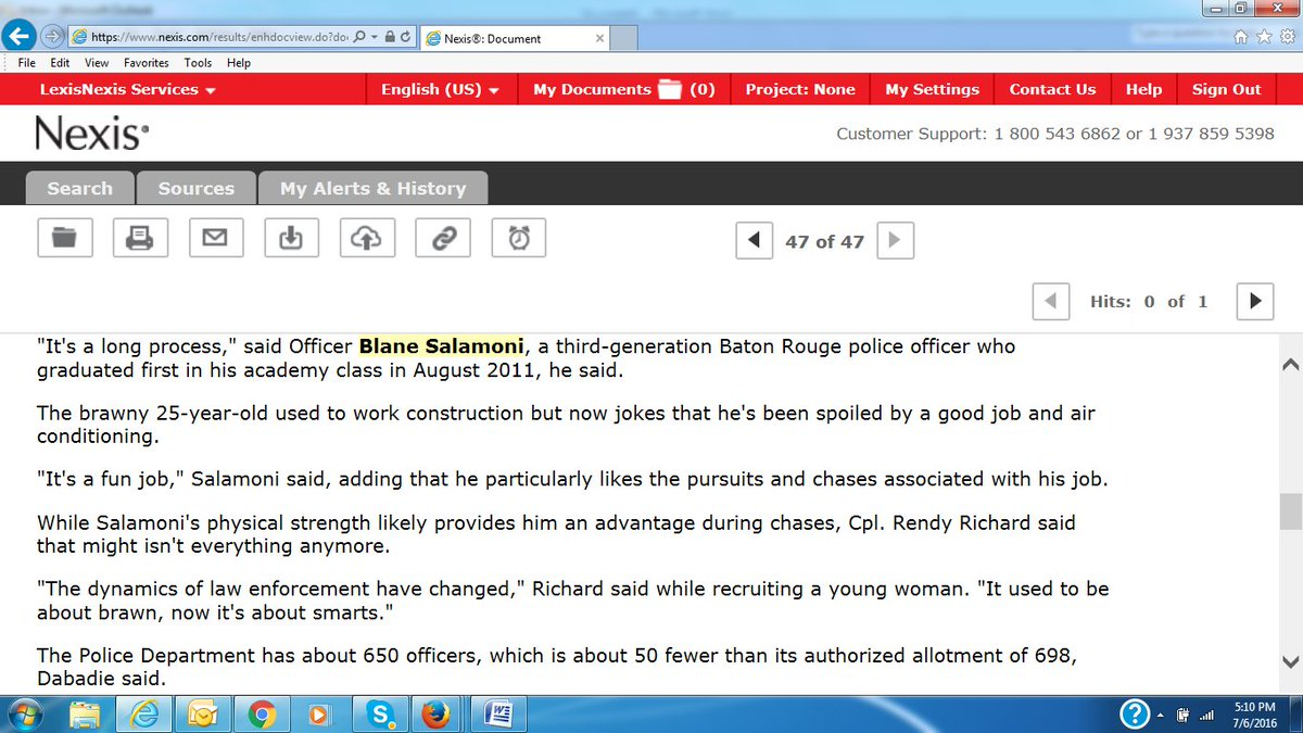 """In 2011, cop in #AltonSterling killing told paper """"he...likes the pursuits and chases associated with the job."""" https://t.co/FtJWMCkd03"""