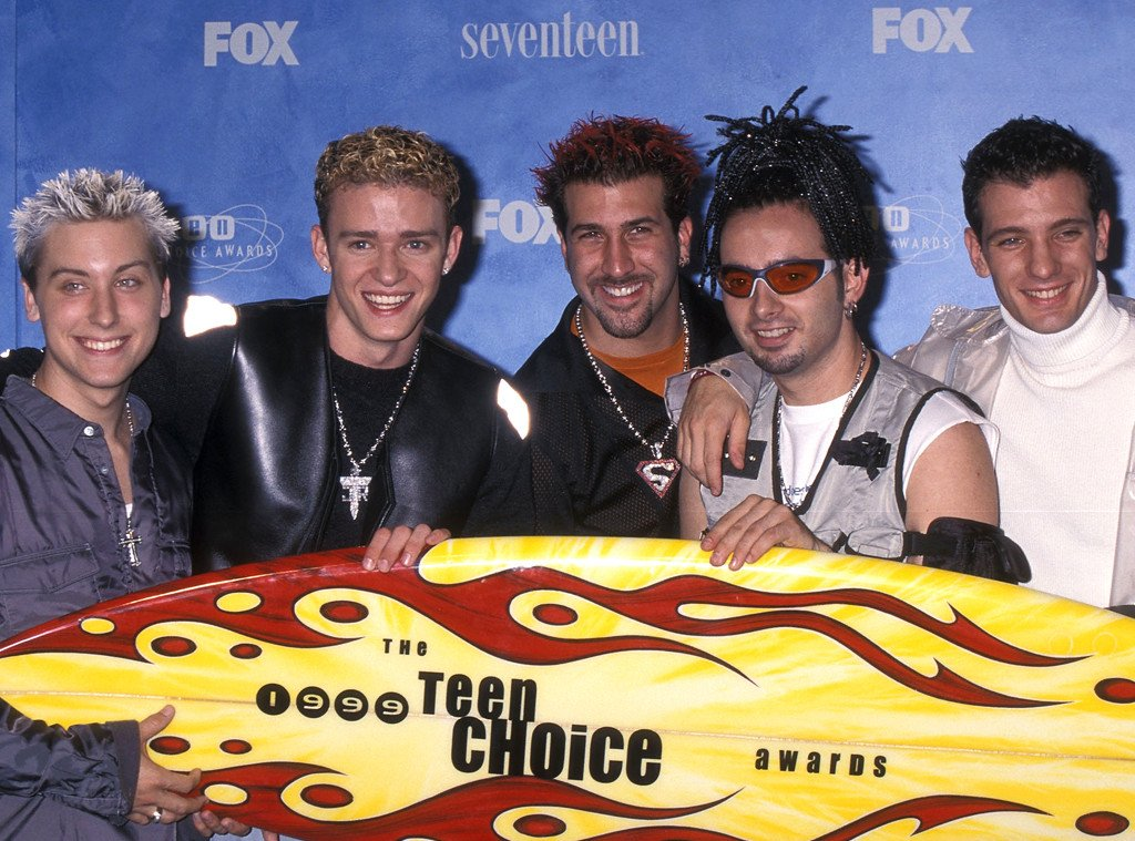 We're hoping Justin Timberlake brings back one of these epic looks at the TeenChoiceAwards: