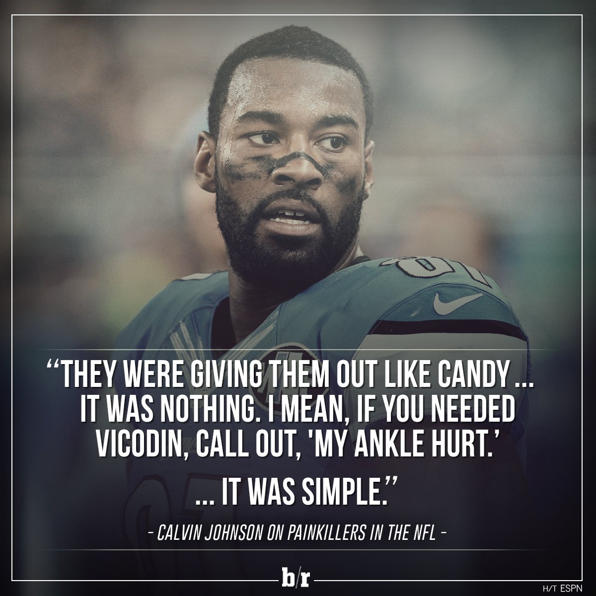 Calvin Johnson keeps it real about painkillers in the NFL https://t.co/Aa1NwMiRoi