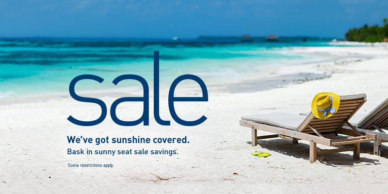 Sunshine sale. Book by 7/11/16 (2359 MT). Travel from 9/7/16 - 10/22/16. Restrictions apply.