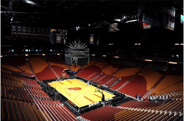 Here's a sneak peak at the Miami Heat's first home game next season!   #Heat #DwayneWade https://t.co/Qhytsvnfz9