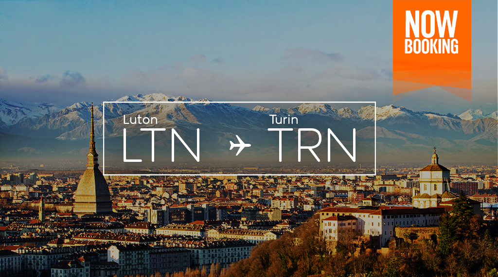 💙 Turin? Now ✈️ from @OfficialBRS, @manairport & @LDNLutonAirport! Book now for winter