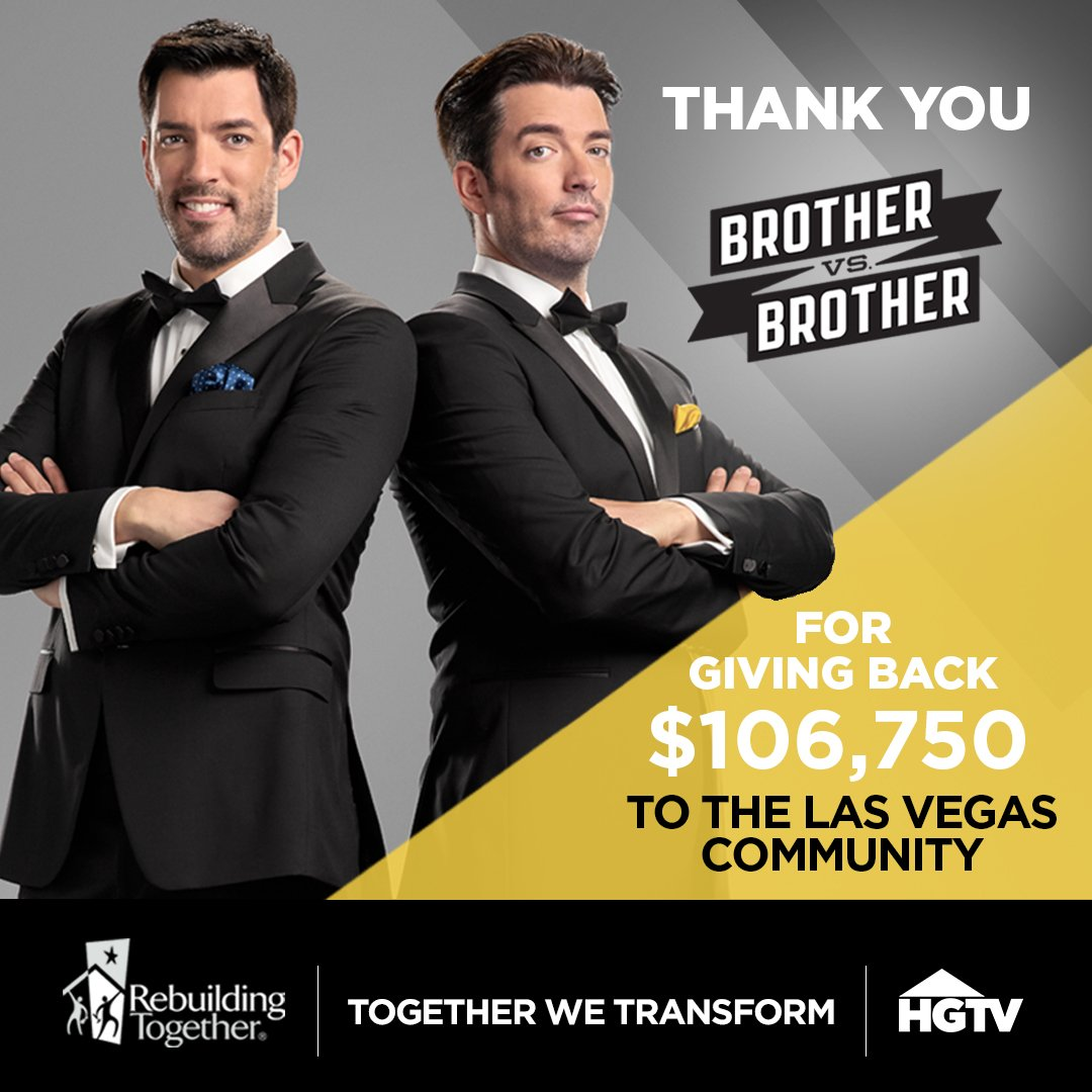 Thanks @MrDrewScott @MrSilverScott & @HGTV for your continued support & the incredible donation to @NewsRTSNV! https://t.co/F77gvvI2Di