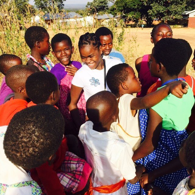 Mercy makes new friends at Home of Hope in Michingi! ❤️???????? https://t.co/SG1wOVipRI