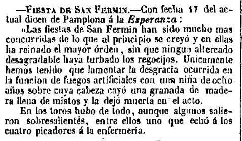 Menos mal que en San Fermín nada turba el regocijo (1847) https://t.co/WOUXuairVo