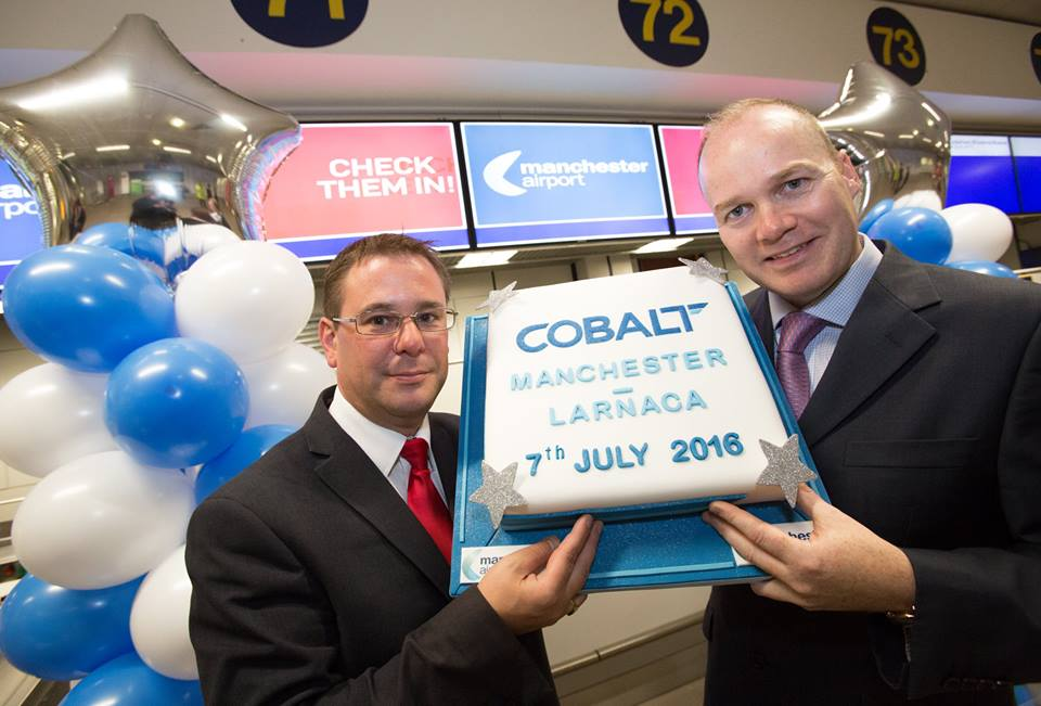 Today we celebrated Cobalt's 1st flight to Larnaca! Fly with low fares and great service