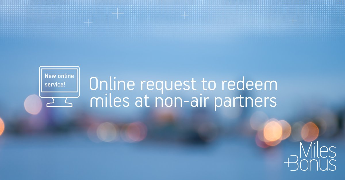 Make a miles redemption request online & book free stays at partner hotels!