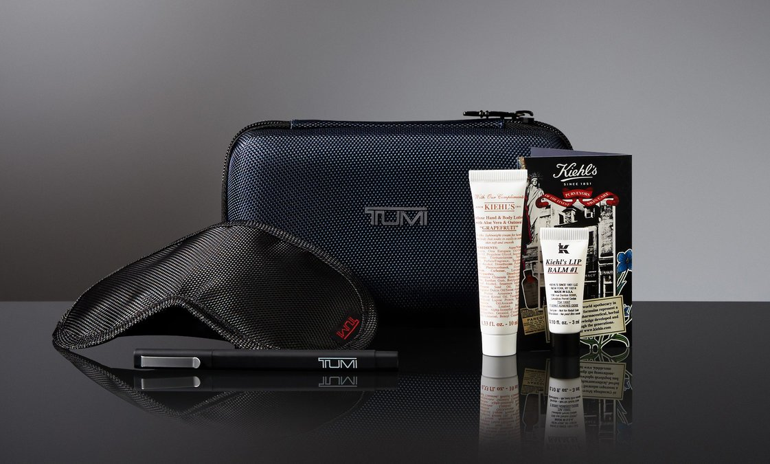 .@Kiehls premium products enhance @Tumitravel amenity kits in DeltaOne.