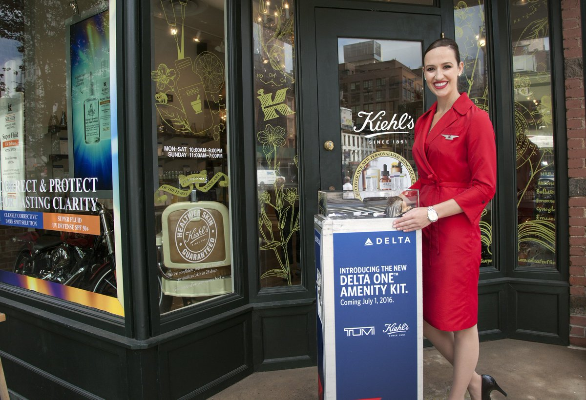 .@Delta flight attendants treat customers to @Kiehls premium products.| Delta News Hub