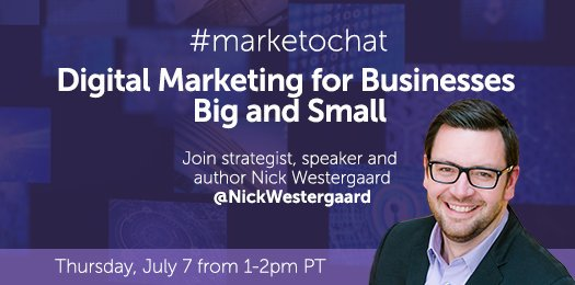 Can't wait for #marketochat today at 2 PM CT to discuss how to #GetScrappy w/ #digitalmarketing. Thanks @marketo! https://t.co/J5gE1razgU