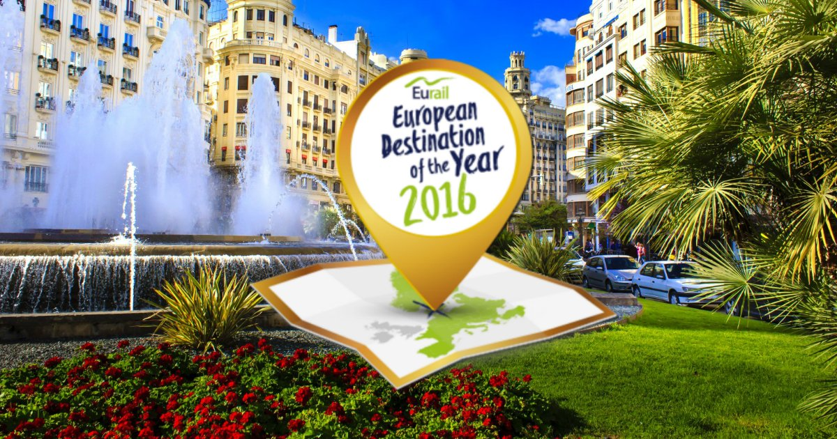 Valencia is the winner of the #Interrail #DestinationAward2016 with 33% of the votes! https://t.co/rfrNr0vWLi https://t.co/xsq6iE8LVX