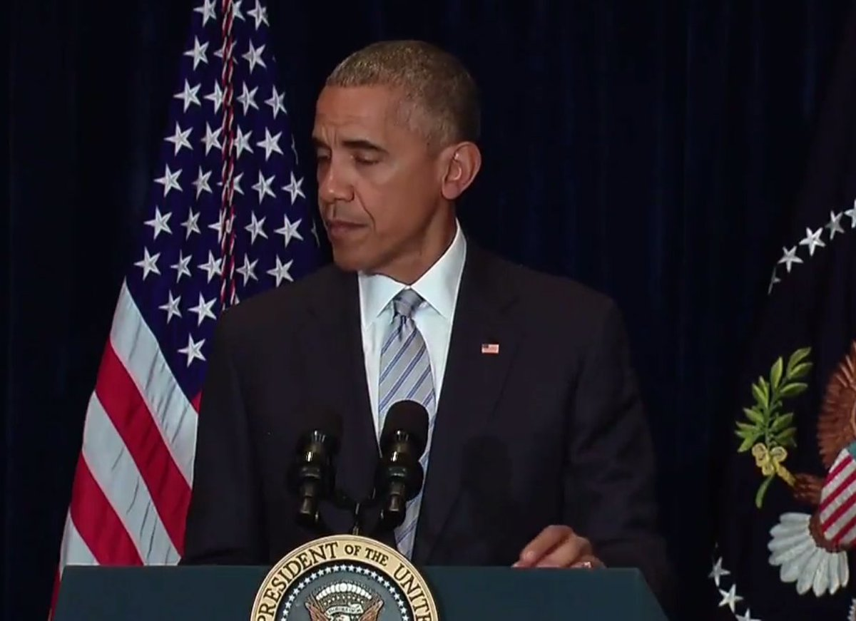 """Obama: """"These are not isolated incidents. they're symptomatic of a broader set of racial disparities that exist"""" https://t.co/lCTzhq02W1"""