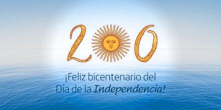 #DíaDeLaIndependencia ¡Celebremos juntos nuestro bicentenario!  ¿Y vos cómo vas a festejar este 9 de julio? https://t.co/GC2zWr3UNF