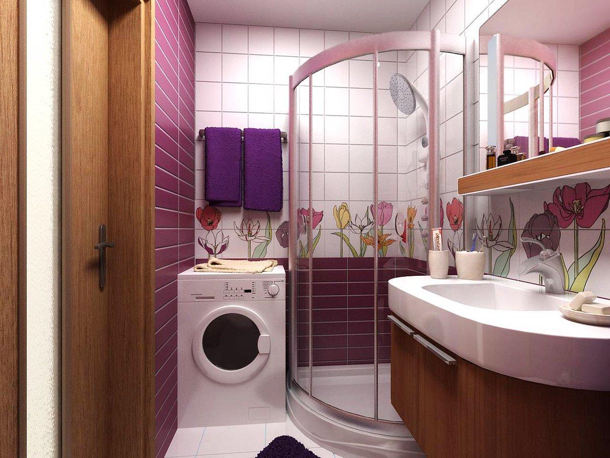Дизайн для ванной комнаты маленького размера