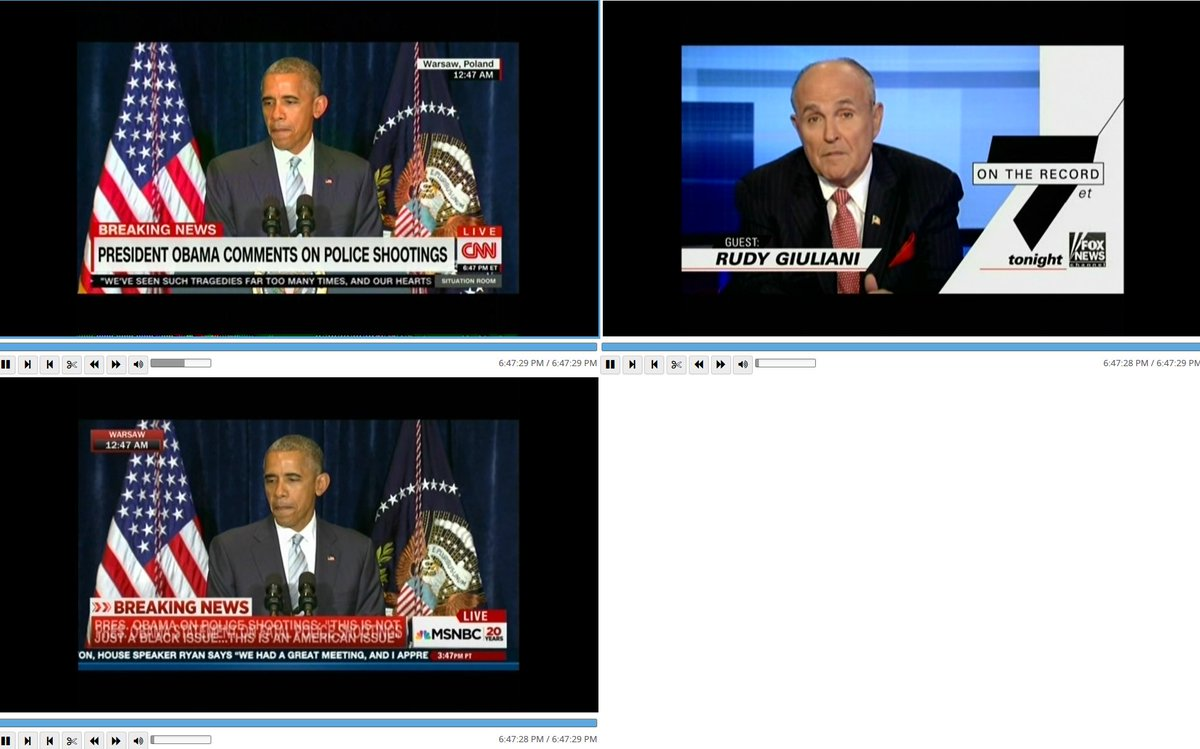 Fox News is the only cable news network not covering Obama's statements on police killings https://t.co/dtz8HZayh7