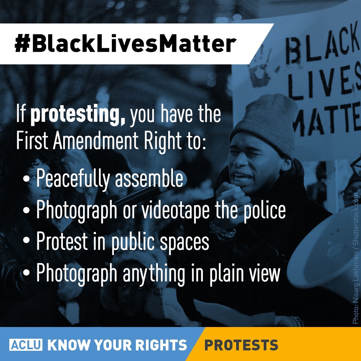 RT @ACLU: If you're heading out to protest tonight, #knowyourrights #blacklivesmatter https://t.co/UjZ8w20kl6 https://t.co/b689ag8kTn