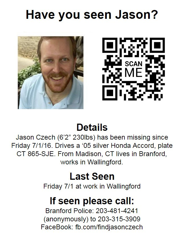 Please help #FindJasonCzech.  Thank you to everyone for sharing. May be at #phish this weekend but no one knows. https://t.co/3TnqkJ02k8