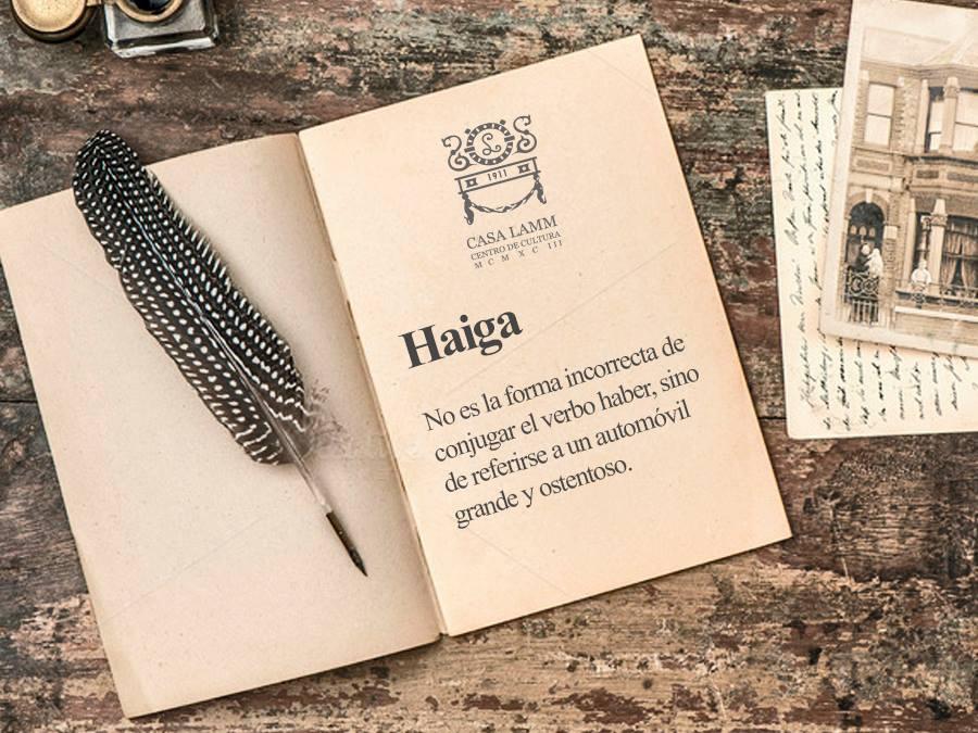 """La palabra """"haiga"""" se utilizaba en España para describir a los autos ostentosos que llegaron de América #PalabraLamm https://t.co/uJmt1neN0K"""