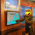 Look who stopped by the @WLOX station today. We had so many storms, I had to put him to work. https://t.co/TQdK4MbfaP