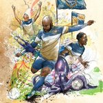 Amazing #ArmadaFC poster created by local artist @varick being handed out at tomorrows match! https://t.co/4YpOwoU5rK