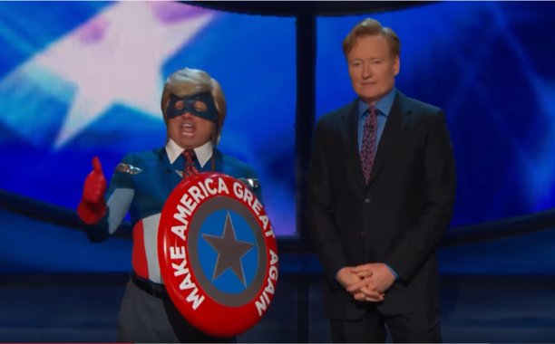 Conan O'Brien combines ComicCon and RNCinCLE with Captain Make America Great Again: 😂