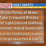 As we get ready for the hottest temperatures of the year-heres a few things to remember for the weekend! https://t.co/sV5oU2PsTW