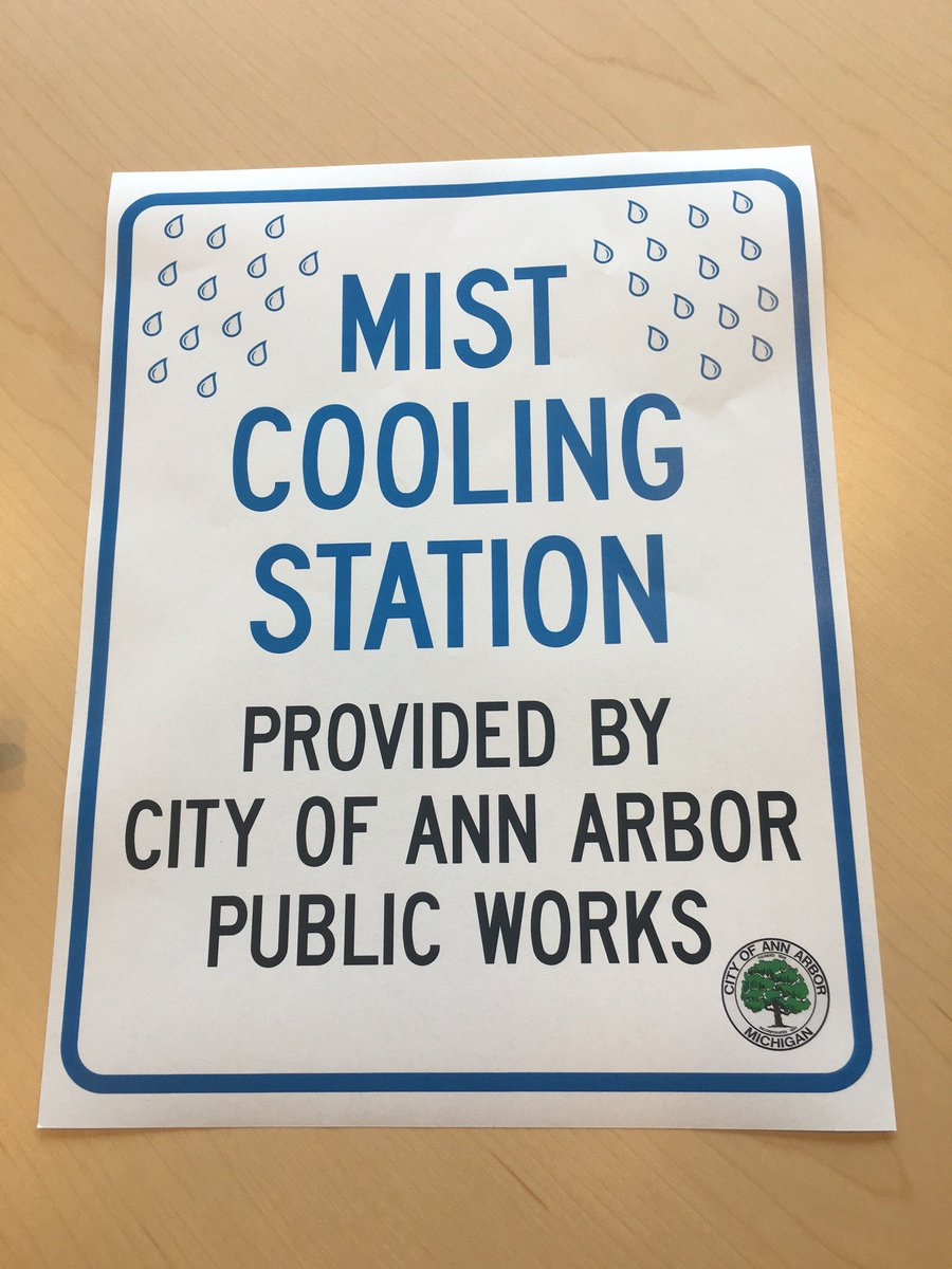 Need a break from the heat at @AnnArborArtFair? The City has set up a mist cooling station at State St & William. https://t.co/mJ9mR7jsFu