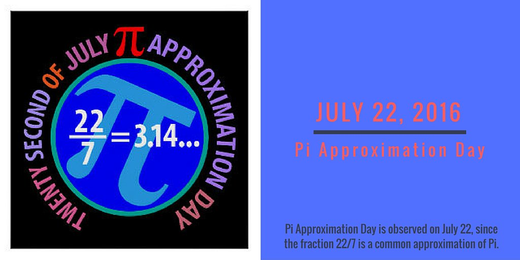 Happy Pi Approximation Day! #PiApproximationDay https://t.co/4X1hD47bXr