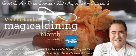 Visit Orlando's Magical Dining Month dates and Restaurants announced: https://t.co/tCXYZE0F1c https://t.co/GbFiyINWst