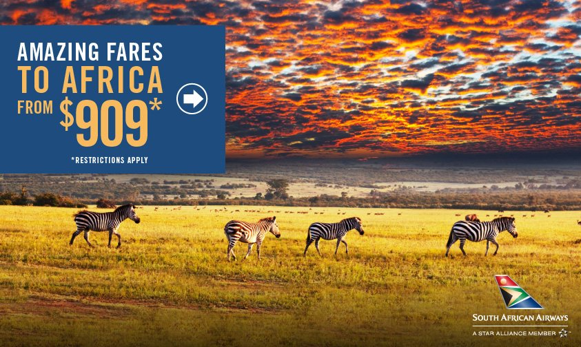 📢  Calling all travelers 📢 There's no better time to see Africa! Check out these low fares: