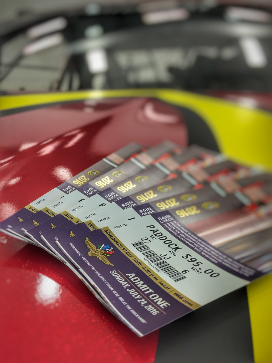 Who is ready for the #Brickyard400 at @IMS this weekend? RT to win pair of tix. Will random select winners tonight! https://t.co/YRTzmH24eE