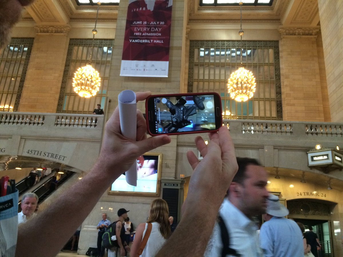 Augmented reality in Grand Central