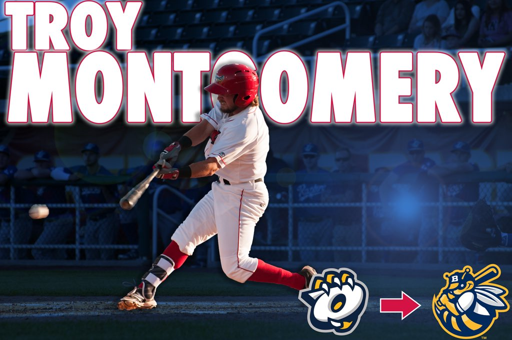 TRANSACTIONS:  Troy Montgomery, Connor Justus, and Michael Barash have been promoted to the @BurlingtonBees! https://t.co/lTnGXilvA3