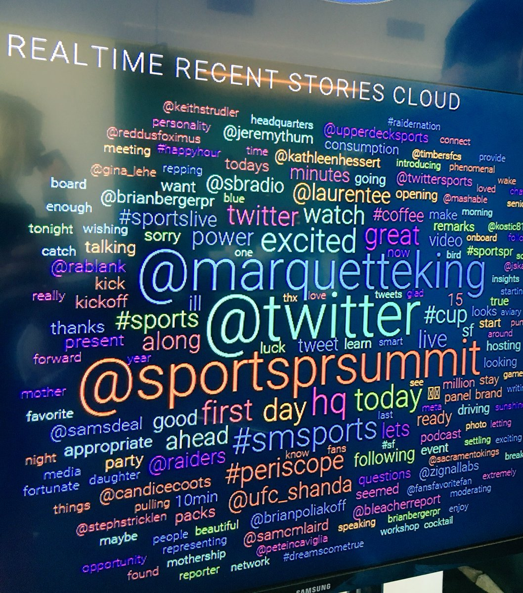 So much love for @RAIDERS punter @MarquetteKing as the opening session at #SportsPRsummit starts.