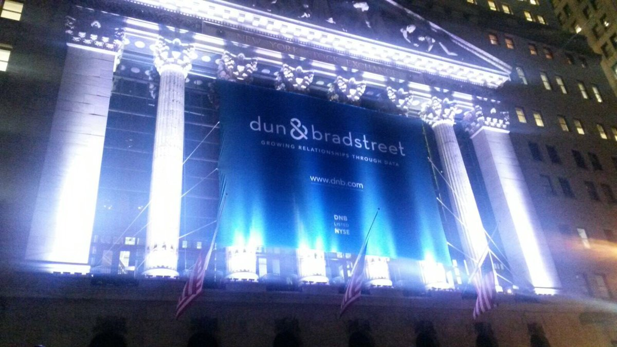 Dun & Bradstreet will ring the closing bell at the @NYSE today! https://t.co/PxONax6zAT #ToTheNext175 https://t.co/MrxZSTR65q