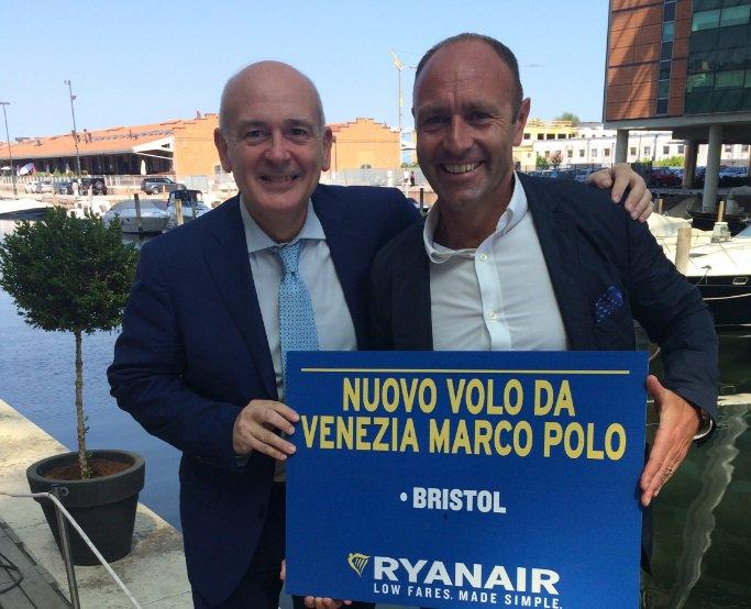 Ryanair inaugura il collegamento Venezia Marco Polo-Bristol!