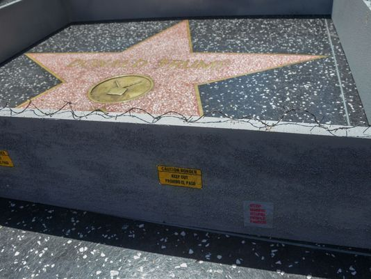 About that artist built one at Trump's Walk of Fame star. (Photo: Plastic Jesus)